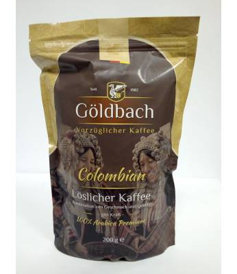 Кофе Goldbach Colombian растворимый  200 г (Германия)