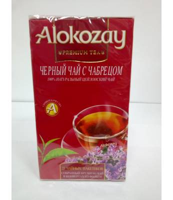 Чай Alokozay Чорный чай с Чабрецом 25 шт