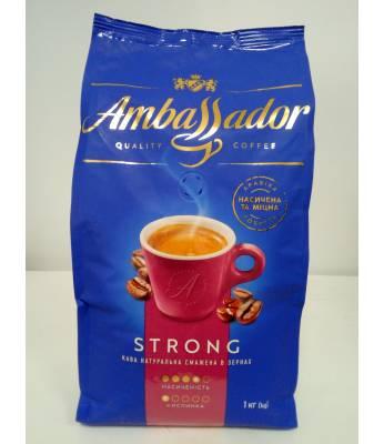Кофе Ambassador Strong в зернах 1 кг