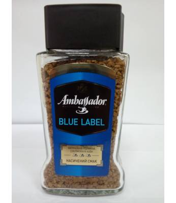 Кофе Ambassador Blue Label растворимый 95 г С/Б