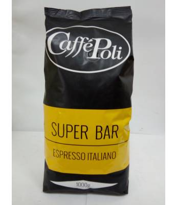 Кофе Caffe Poli Super Bar в зернах 1 кг (Италия)