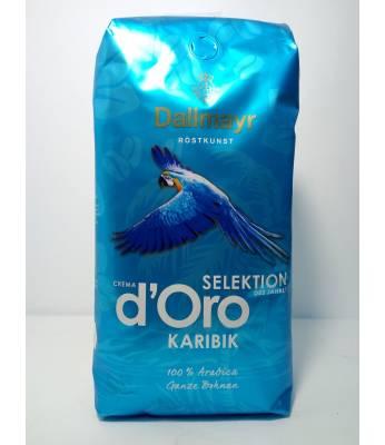 Кофе Dallmayr Crema d'Oro Selektion Karibik в зернах 1 кг Оригинал (Германия)