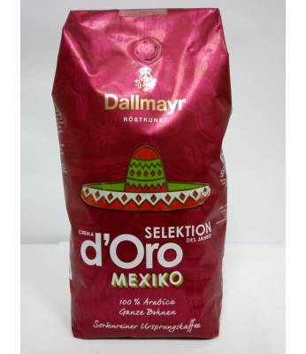 Кофе Dallmayr Crema d'Oro Selektion Mexiko в зернах 1 кг Оригинал (Германия)