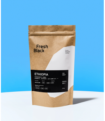 Кофе в зернах Fresh Black ETHIOPIA YIRGACHEFFE KONGA 1 кг