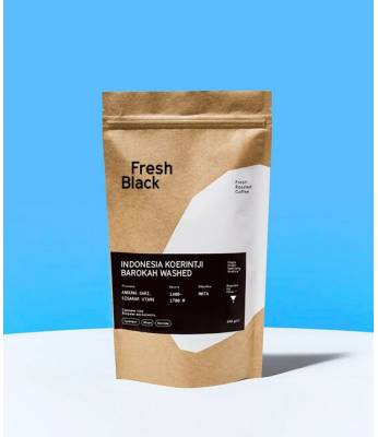 Кофе в зернах Fresh Black INDONESIA KOERINTJI BAROKAH WASHED 1 кг