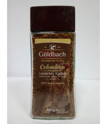Кофе Goldbach Colombian растворимый в стеклянной банке 200 г (Германия)