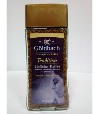 Кофе Goldbach Tradition 100% Arabica растворимый 200 г в  банке (Германия)