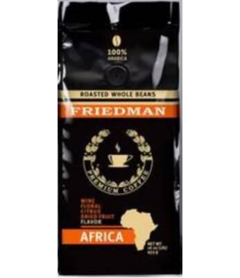 Кофе Friedman Africa 100 % Arabica в зернах 453 г