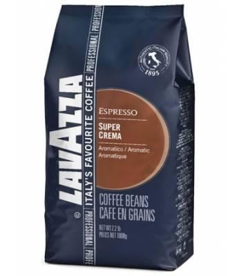 Кофе Lavazza Super Crema в зернах 1 кг (Польша)