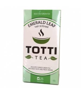 Чай TOTTI Tea Изумрудный лист 25 шт