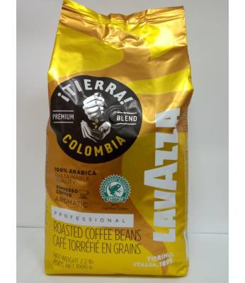 Кофе Lavazza Tierra Colombia  в зернах 1 кг Оригинал  (Италия)