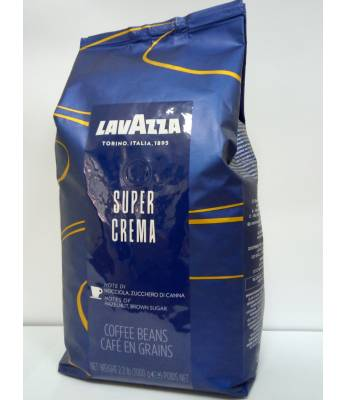 Кофе Lavazza Super Crema в зернах 1 кг  Оригинал (Италия)