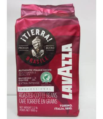 Кофе Lavazza Tierra Brazil AIR Extra Intense в зернах 1 кг (Италия)