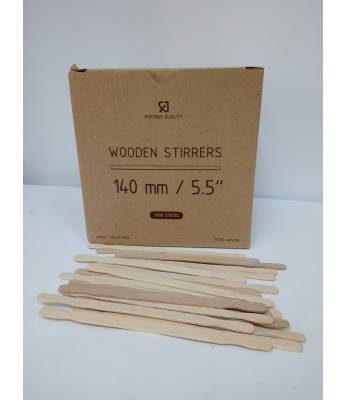 Мешалка деревянная Premium Quality 14 см / 5,5 толщина (1000 шт) Картон