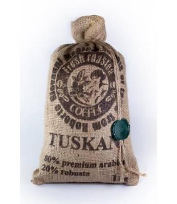 Кофе Tuskani 80% арабика 20% робуста в зернах 1 кг